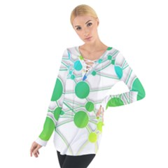 Network Connection Structure Knot Women s Tie Up Tee
