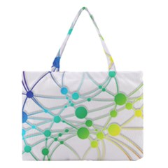 Network Connection Structure Knot Medium Tote Bag