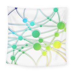 Network Connection Structure Knot Square Tapestry (Large)