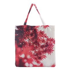 Maple Leaves Red Autumn Fall Grocery Tote Bag