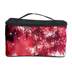 Maple Leaves Red Autumn Fall Cosmetic Storage Case