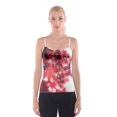 Maple Leaves Red Autumn Fall Spaghetti Strap Top