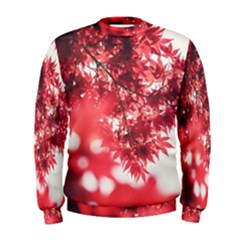 Maple Leaves Red Autumn Fall Men s Sweatshirt