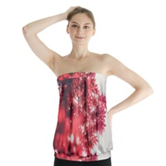 Maple Leaves Red Autumn Fall Strapless Top