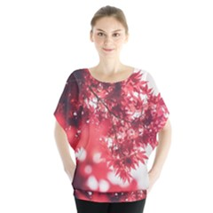 Maple Leaves Red Autumn Fall Blouse
