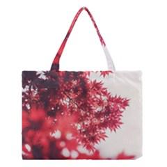 Maple Leaves Red Autumn Fall Medium Tote Bag
