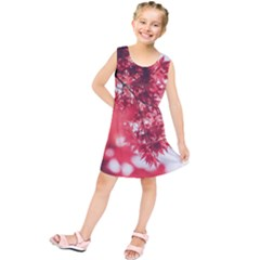 Maple Leaves Red Autumn Fall Kids  Tunic Dress