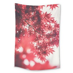 Maple Leaves Red Autumn Fall Large Tapestry
