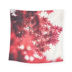 Maple Leaves Red Autumn Fall Square Tapestry (Small)