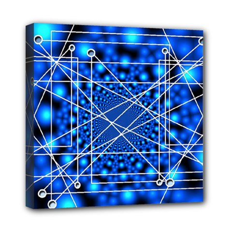 Network Connection Structure Knot Mini Canvas 8  x 8