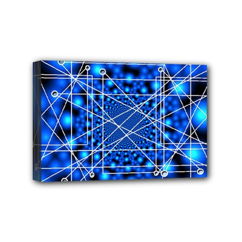 Network Connection Structure Knot Mini Canvas 6  x 4