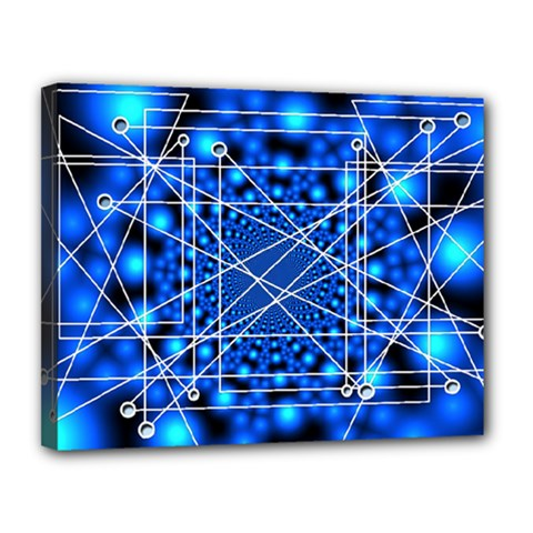 Network Connection Structure Knot Canvas 14  x 11