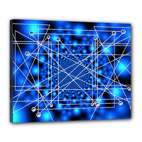 Network Connection Structure Knot Canvas 20  x 16