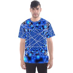 Network Connection Structure Knot Men s Sport Mesh Tee