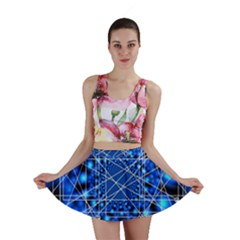 Network Connection Structure Knot Mini Skirt