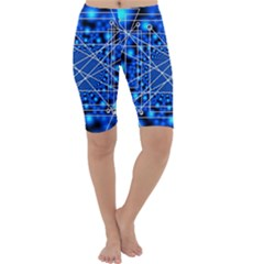 Network Connection Structure Knot Cropped Leggings