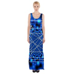 Network Connection Structure Knot Maxi Thigh Split Dress