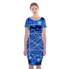 Network Connection Structure Knot Classic Short Sleeve Midi Dress