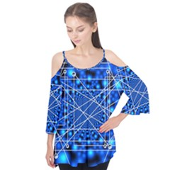 Network Connection Structure Knot Flutter Tees