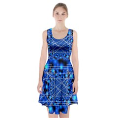 Network Connection Structure Knot Racerback Midi Dress