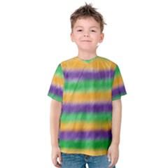 Mardi Gras Strip Tie Die Kids  Cotton Tee