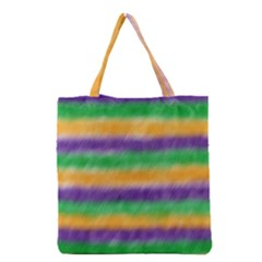 Mardi Gras Strip Tie Die Grocery Tote Bag