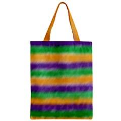 Mardi Gras Strip Tie Die Zipper Classic Tote Bag