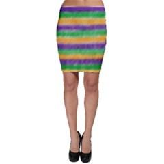 Mardi Gras Strip Tie Die Bodycon Skirt