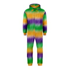 Mardi Gras Strip Tie Die Hooded Jumpsuit (Kids)