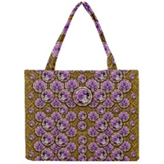 Gold Plates With Magic Flowers Raining Down Mini Tote Bag