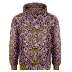 Gold Plates With Magic Flowers Raining Down Men s Pullover Hoodie