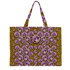 Gold Plates With Magic Flowers Raining Down Large Tote Bag