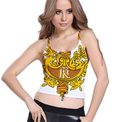 National Emblem of France  Spaghetti Strap Bra Top