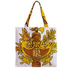 National Emblem of France  Zipper Grocery Tote Bag