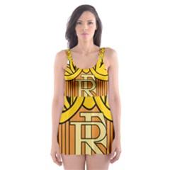 National Emblem of France  Skater Dress Swimsuit