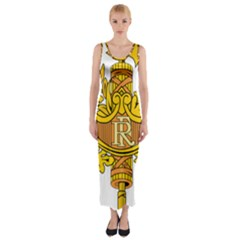 National Emblem of France  Fitted Maxi Dress