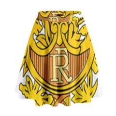 National Emblem of France  High Waist Skirt