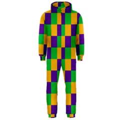Mardi Gras Checkers Hooded Jumpsuit (Men)