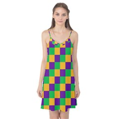 Mardi Gras Checkers Camis Nightgown