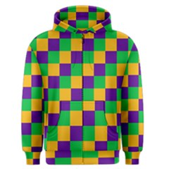 Mardi Gras Checkers Men s Zipper Hoodie