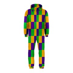Mardi Gras Checkers Hooded Jumpsuit (Kids)
