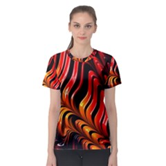 Fractal Mathematics Abstract Women s Sport Mesh Tee