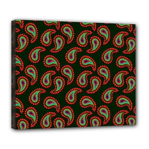 Pattern Abstract Paisley Swirls Deluxe Canvas 24  X 20