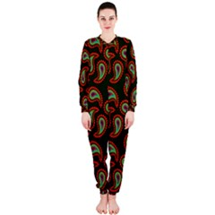 Pattern Abstract Paisley Swirls Onepiece Jumpsuit (ladies)
