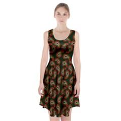 Pattern Abstract Paisley Swirls Racerback Midi Dress