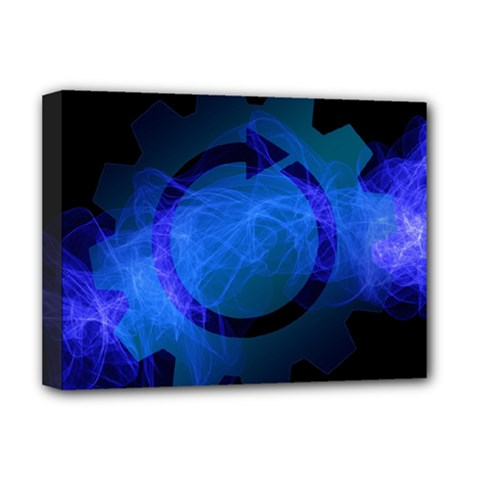 Particles Gear Circuit District Deluxe Canvas 16  X 12