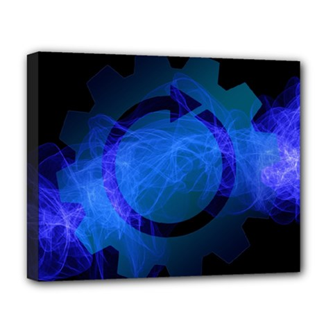 Particles Gear Circuit District Deluxe Canvas 20  x 16