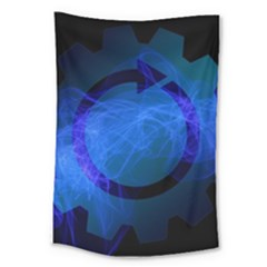 Particles Gear Circuit District Large Tapestry
