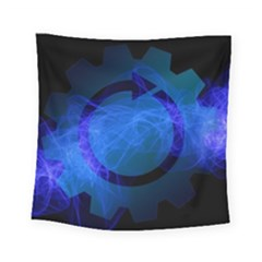 Particles Gear Circuit District Square Tapestry (Small)