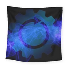Particles Gear Circuit District Square Tapestry (large)